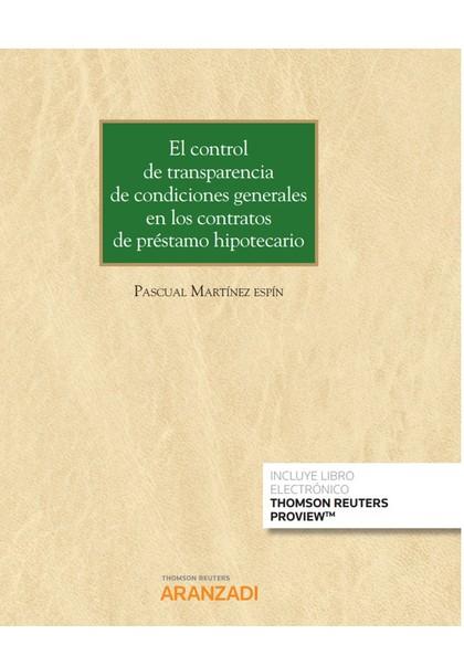 CONTROL DE TRANSPARENCIA DE CONDICIONES GENERALES EN LOS CONTRATOS DE PRÉSTAMO H.