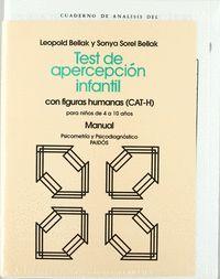 TEST DE APERCEPCIÓN INFANTIL CON FIGURAS HUMANAS (CAT-H). CON FIGURAS HUMANAS (CAT-H)