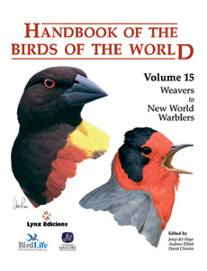 HANDBOOK OF THE BIRDS OF THE WORLD V.15 : WEAVERS TO NEW WORLD WARBLES