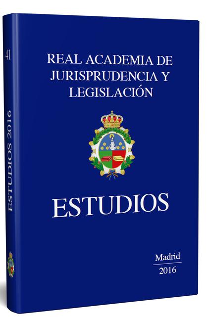 ESTUDIOS. REAL ACADEMIA DE LEGISLACIÓN Y JURISPRUDENCIA. 2015-2016