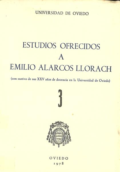 ESTUDIOS OFRECIDOS A EMILIO ALARCOS LLORACH TOMO III.