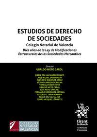ESTUDIOS DE DERECHO DE SOCIEDADES.
