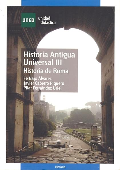 HISTORIA ANTIGUA UNIVERSAL III, HISTORIA DE ROMA