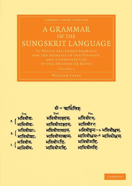 A GRAMMAR OF THE SUNGSKRIT LANGUAGE - VOLUME 2