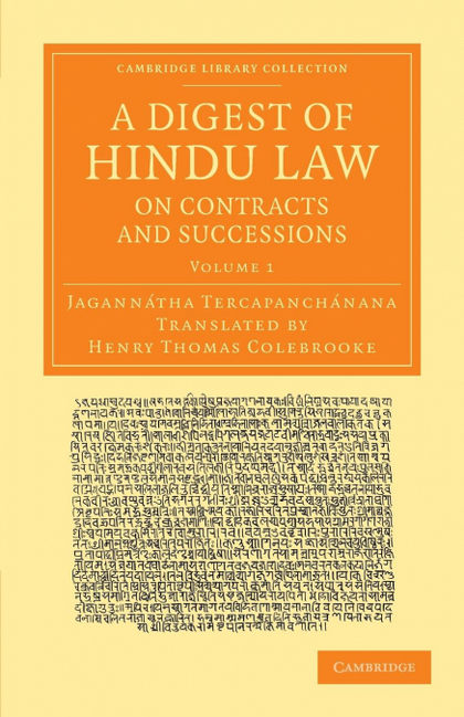 A DIGEST OF HINDU LAW, ON CONTRACTS AND SUCCESSIONS