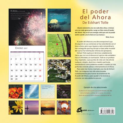 CALENDARIO 2017, EL PODER DEL AHORA