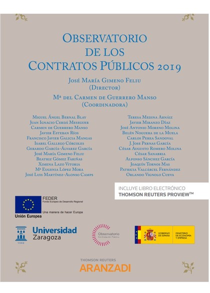 OBSERVATORIO DE LOS CONTRATOS PUBLICOS 2019 DUO.