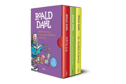 ROALD DAHL (EDICIÓN ESTUCHE CON: MATILDA \ CHARLIE Y LA FÁBRICA DE CHOCOLATE \ E. ADÉNTRATE EN