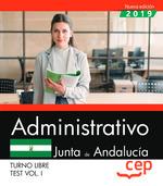 ADMINISTRATIVO (TURNO LIBRE). JUNTA DE ANDALUCÍA. TEST VOL. I.