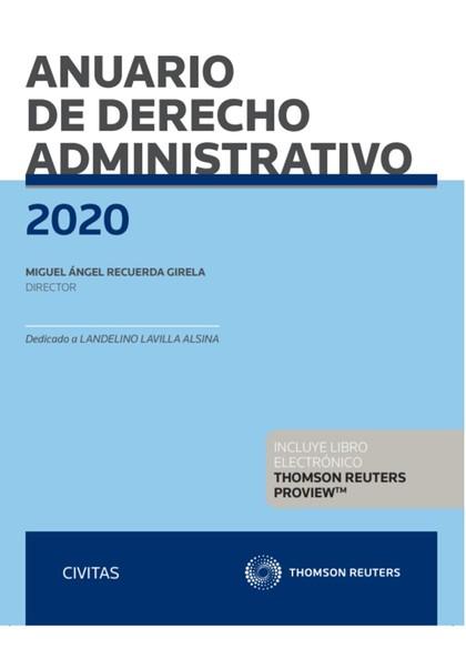 ANUARIO DE DERECHO ADMINISTRATIVO 2020.