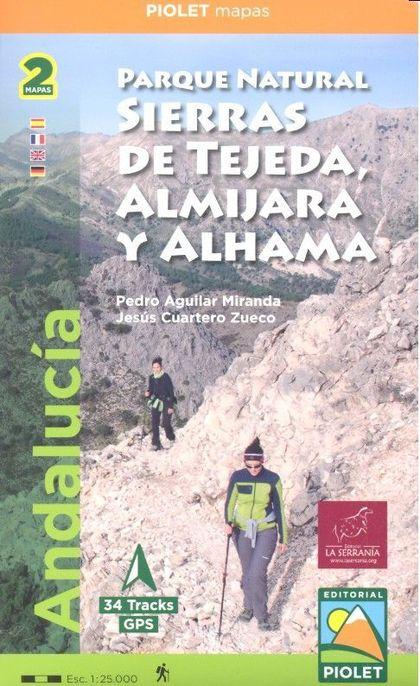 PARQUE NATURAL SIERRAS DE TEJEDA, ALMIJARA Y ALHAMA. ANDALUCÍA. ESCALA 1:25.000