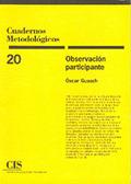 OBSERVACION Y PARTICIPANTE CUADERNOS METODOLOGICOS 20