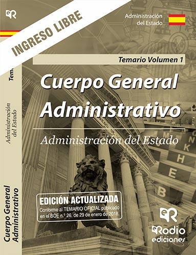 CUERPO GENERAL ADMINISTRATIVO DE LA ADMINISTRACION DEL ESTADO. ACCESO LIBRE. TEM
