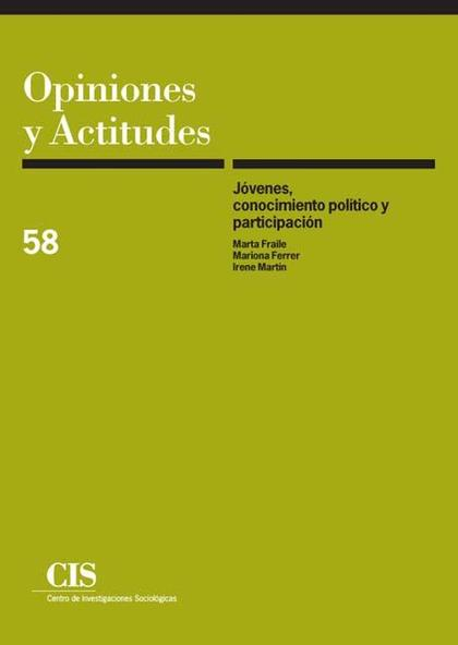Jóvenes, conocimiento político y participación