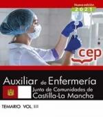AUXILIAR DE ENFERMERIA JUNTA DE COMUNIDADES DE CASTILLA LA MANCHA TEMARIO III