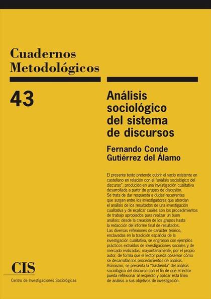 ANÁLISIS SOCIÓLOGICO DEL SISTEMA DE DISCURSOS