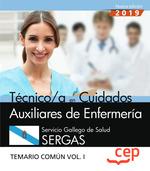 TÉCNICO/A EN CUIDADOS AUXILIARES DE ENFERMERÍA. SERVICIO GALLEGO DE SALUD. SERGA