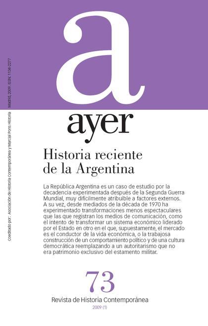 HISTORIA RECIENTE DE LA ARGENTINA