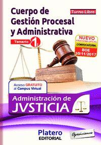 CUERPO GESTIÓN PROCESAL Y ADVA ADMINISTRACIÓN DE JUSTICIA TURNO LIBRE. TEMARIO V.