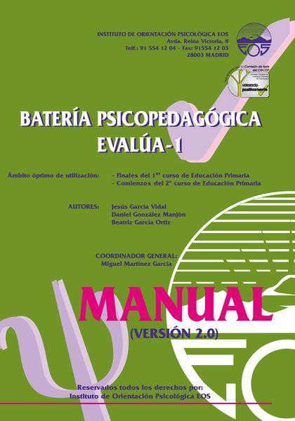 MANUAL DE LA BATERIA PSICOPEDAGOGICA EVALÚA 1