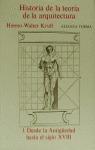 Historia de la teoría de la arquitectura. 1. Desde la Antigüedad hasta el siglo XVIII