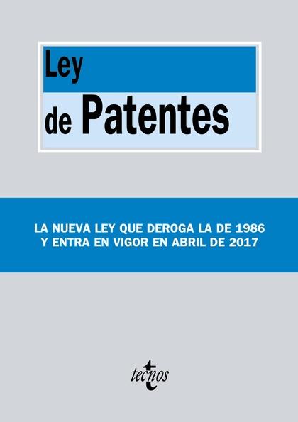 LEY DE PATENTES                                                                 LEY 24/2015, DE