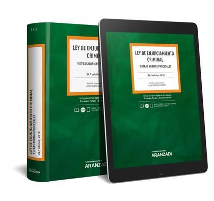 LEY DE ENJUICIAMIENTO CRIMINAL (PAPEL + E-BOOK). Y OTRAS NORMAS PROCESALES