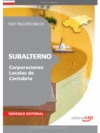 SUBALTERNO CORPORACIONES LOCALES DE CANTABRIA. TEST PSICOTÉCNICOS.