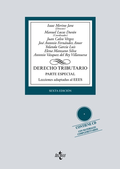 DERECHO TRIBUTARIO. PARTE ESPECIAL. LECCIONES ADAPTADAS AL EEES