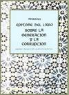 EPÍTOME DEL LIBRO SOBRE LA GENERACIÓN Y LA CORRUPCIÓN