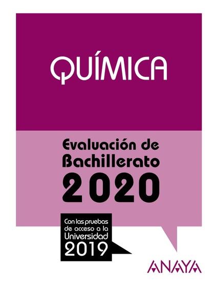 SELECTIVIDAD QUIMICA 2020.