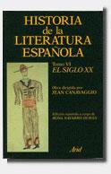 HISTORIA LITERATURA ESPAÑOLA T VI SIGLO XX