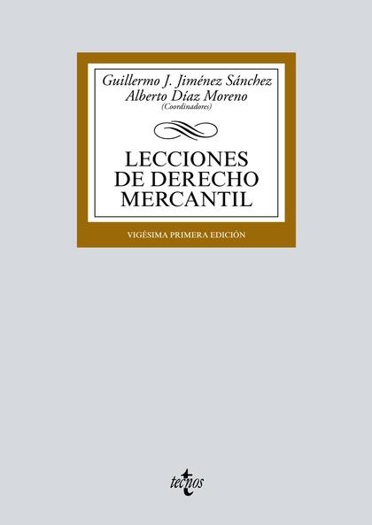 LECCIONES DE DERECHO MERCANTIL.