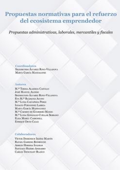 PROPUESTAS NORMATIVAS PARA EL REFUERZO DEL ECOSISTEMA EMPRENDEDOR. PROPUESTAS ADMINISTRATIVAS,