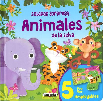 ANIMALES DE LA SELVA - SOLAPAS SORPRESA