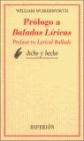 PROLOGO A BALADAS LIRICAS