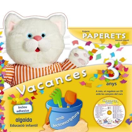 PAPERETS, EDUCACIÓ INFANTIL, 3 ANYS (VALENCIA). VACANCES