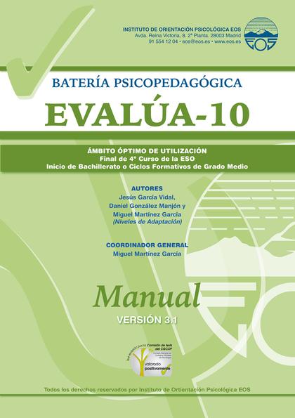 MANUAL EVALÚA 10. VERSIÓN 3.0