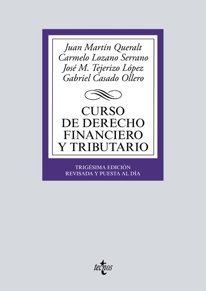 CURSO DE DERECHO FINANCIERO Y TRIBUTARIO.