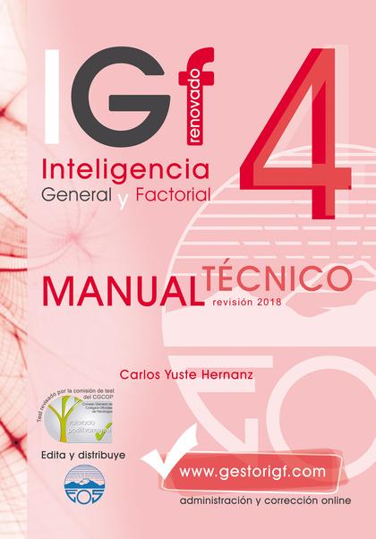 IGF-4R. MANUAL TÉCNICO. REVISADO 2018
