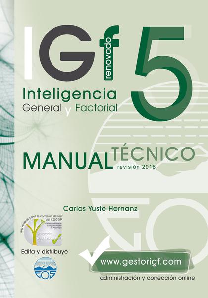 IGF-5R. MANUAL TÉCNICO. REVISADO 2018