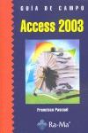 ACCESS 2003. GUÍA DE FORMACIÓN