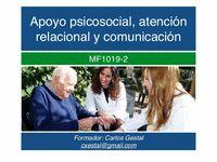 APOYO PSICOSOCIAL ATENCION RELACIONAL Y COMUNICATIVA MF1019.