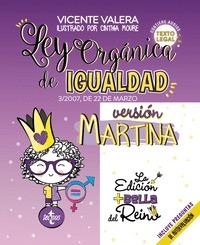 LEY ORGÁNICA DE IGUALDAD.