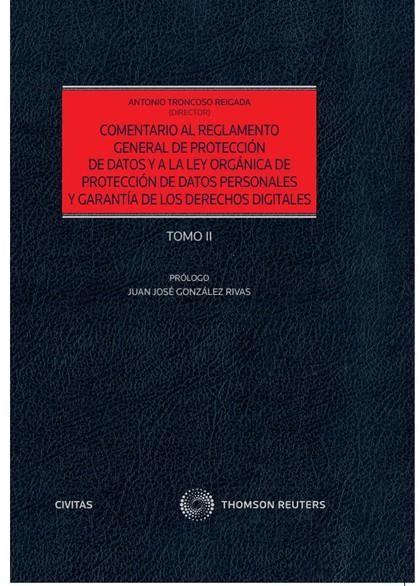 COMENTARIO AL REGLAMENTO GENERAL DE PROTECCIÓN DE DATOS Y A LA LEY ORGÁNICA DE P