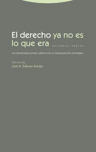 EL DERECHO YA NO ES LO QUE ERA