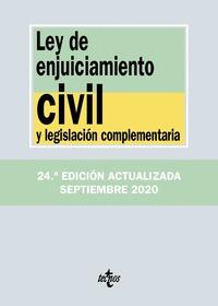 LEY DE ENJUICIAMIENTO CIVIL Y LEGISLACIÓN COMPLEMENTARIA.
