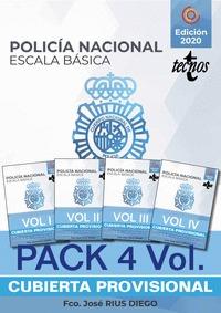 PACK TEMARIO OPOSICIÓN ESCALA BÁSICA POLICÍA NACIONAL                           4 VOLUMENES