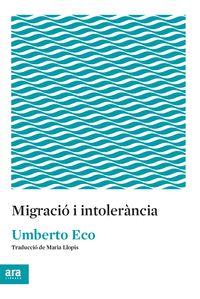 MIGRACIO I TOLRÀNCIA