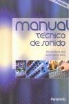 MANUAL TÉCNICO DE SONIDO.